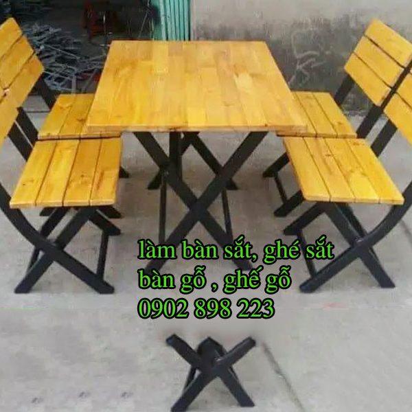 Bàn ghế gỗ chân sắt đa dạng uy tín hiện đại TPHCM